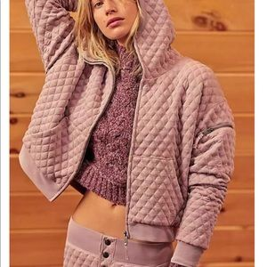 Free People Quilted SZ Small Hoodie NWT